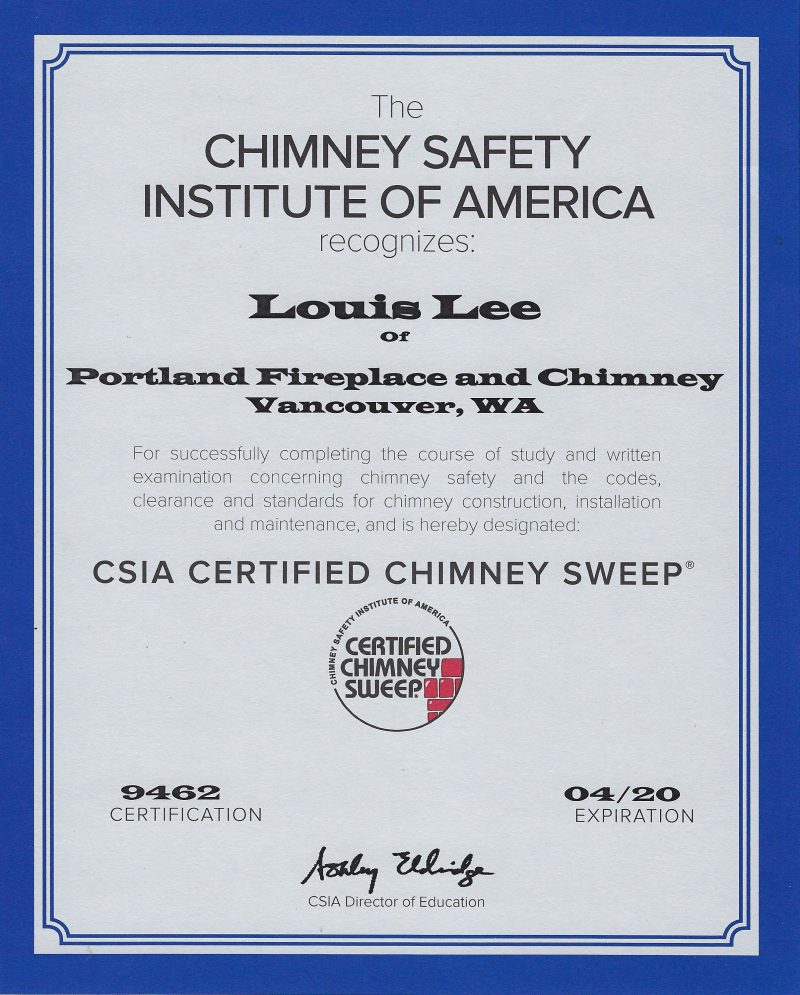 Licenses Affiliations Portland Fireplace And Chimney Inc