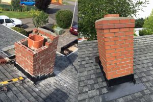 Chimney repair, chimney roof rebuild