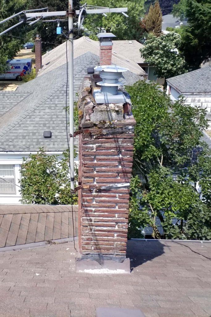 Chimney sweep chimney cleaning chimney repair fireplace brick portland